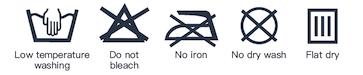 Wash instruction icon